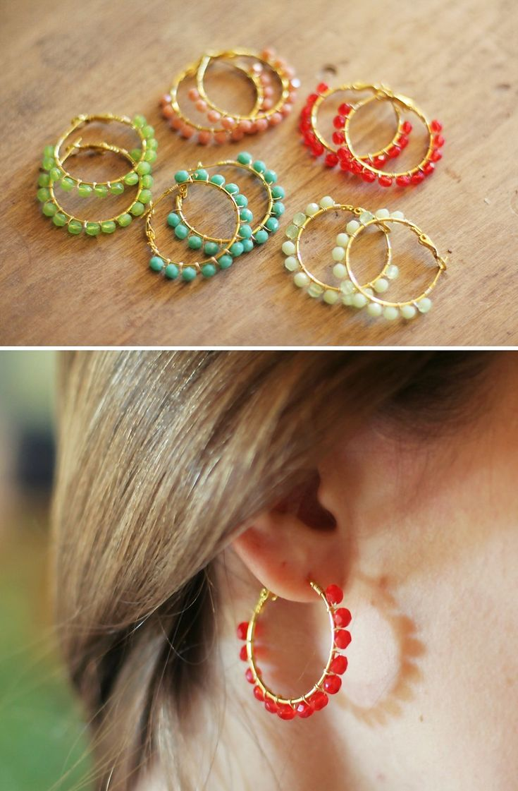 269 best crafts jewelry bead stringing earrings images