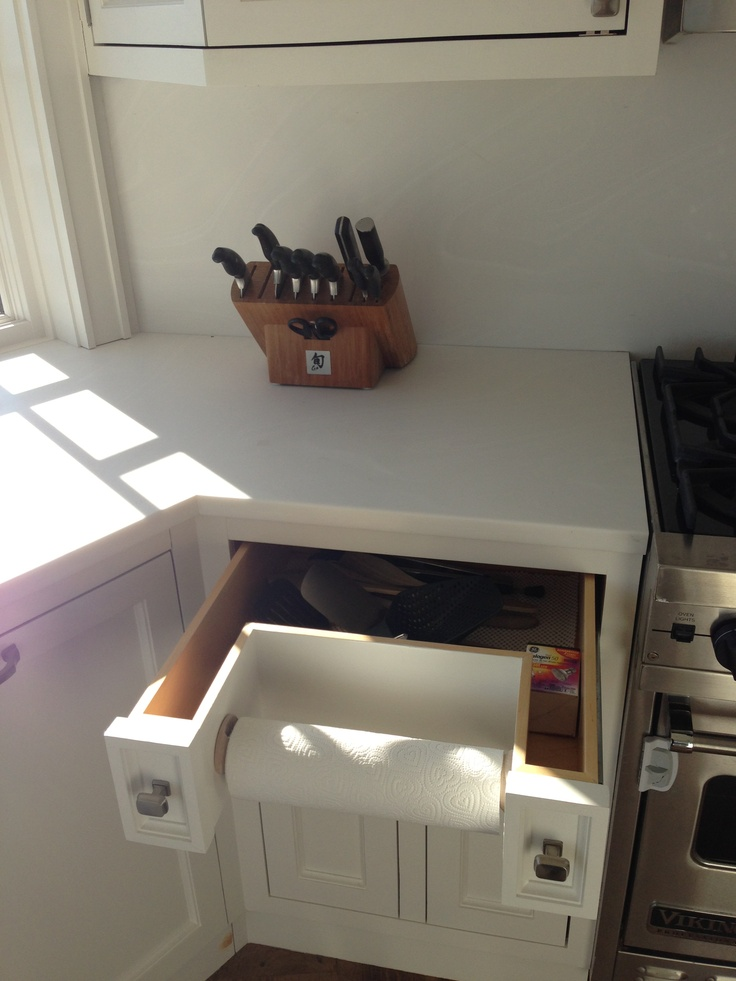 Kitchen: Did the built in/recessed paper towel holder (and added ...