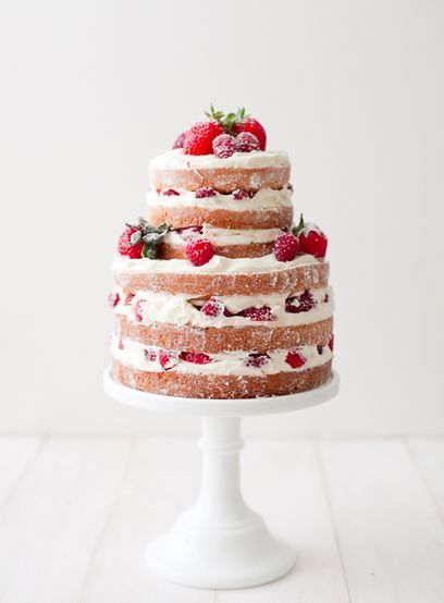 Strawberries Cream Cake