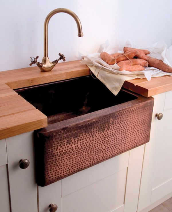 Image result for copper kitchen tap with belfast sink