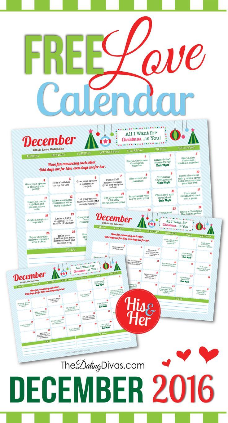 Romantic Advent Calendar Ideas : December love calendar couples game night