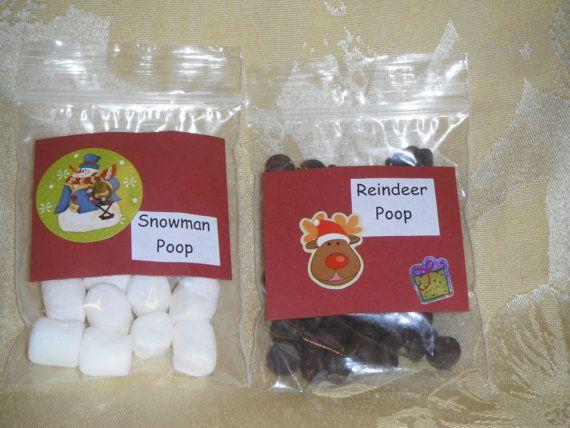 Reindeer Poop and Snowman Poop Set by YaccoGifts on Etsy