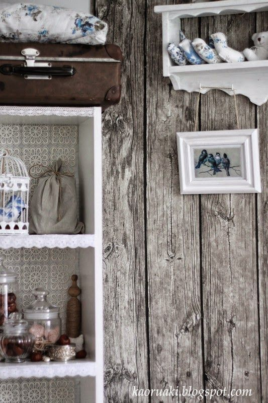 autumn decoration, old wood and shabby chic
