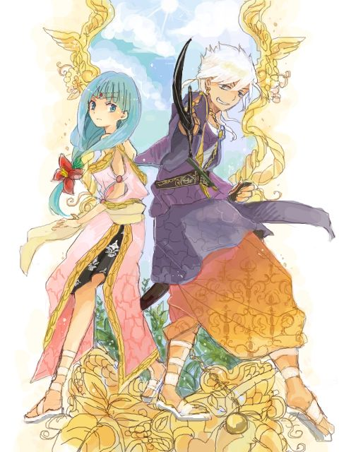 MAGI: The Labyrinth of Magic - Yamuraiha and Sharrkan