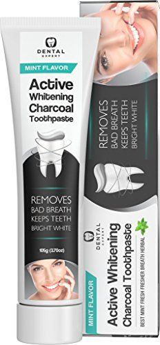 Activated Charcoal Teeth Whitening Toothpaste Orange Flavor- DESTROYS BAD BREATH - Best Natural Black Tooth Paste Kit - Herbal Decay Treatment - REMOVES COFFEE STAINS (Mint Flavor (3.7oz))