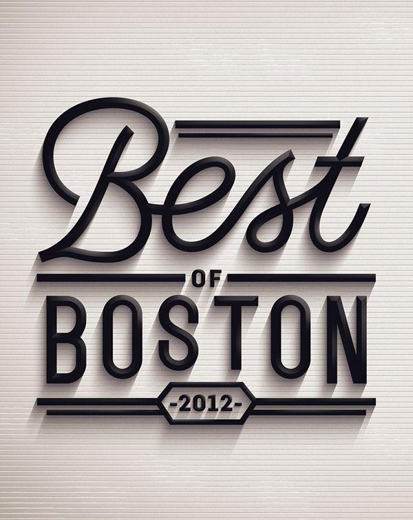 Best of Boston 2012 on Behance