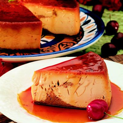 ABUELITA FLAN: This chocolate flan makes a perfect dessert that can be made the day before you serve it.