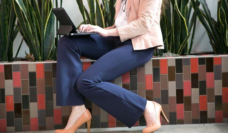 Black Dress Pant Yoga Pants (Boot-Cut)   Women's Stretch Dress Pants   Betabrand