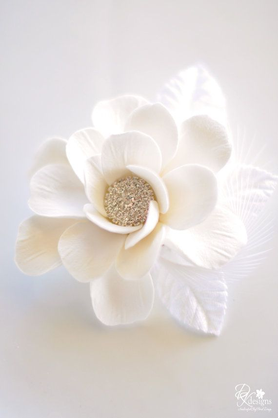 Couture Clay  Made to Order Vintage Inspired Gardenia Hair