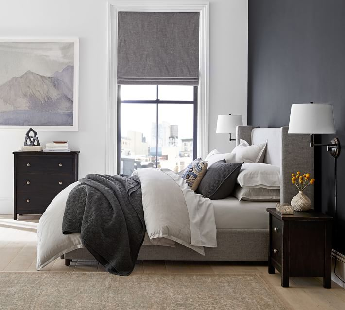 Best Elliot Shelter Footboard Storage Upholstered Bed In 2020 400 x 300