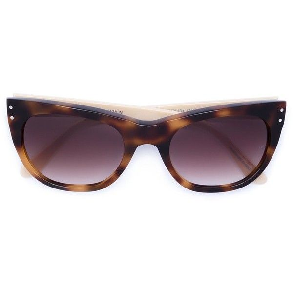 Oliver Goldsmith 'Lancelot' sunglasses (705 AUD) ❤ liked on Polyvore featuring accessories, eyewear, sunglasses, oliver goldsmith sunglasses, oliver goldsmith, oliver goldsmith eyewear, nude sunglasses and oliver goldsmith glasses