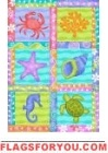 Seaside Collage Garden Flag