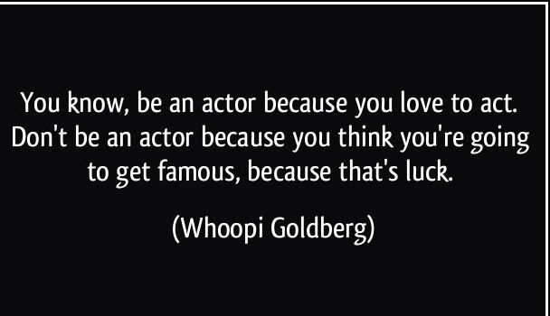 how to get a good acting career