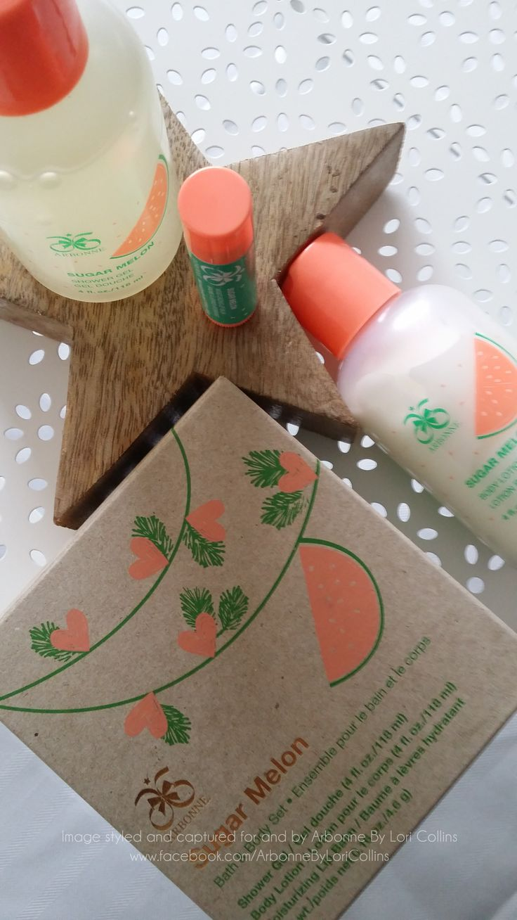 Soft and Sweet Sugar Melon is the perfect gift for a bright and bubbly personality who likes a little fun.  Created with Essential Oils as the fruity scent this Shower Gel and Body Lotion makes a perfect pair.  Just for the sun is the Moisturising Lip Balm for sunkissed plump lips in the same melon flavour!
