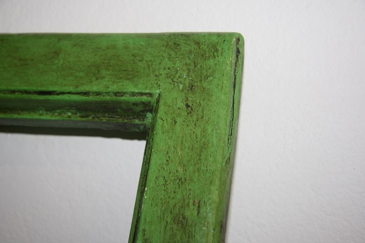 Old painted window, vintage style, Annie Sloan chalk paint Antibes Green
