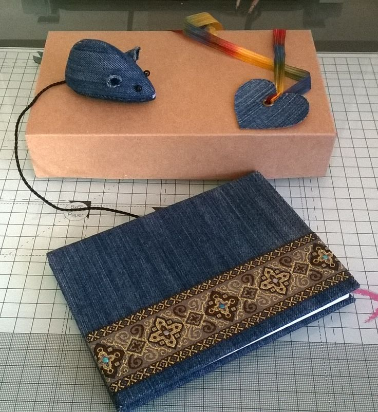 Recycled denim book and mouse gift set I made :)