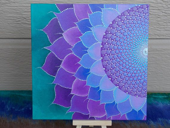 Flores silvestres Mandala pintura geometría sagrada Mandala