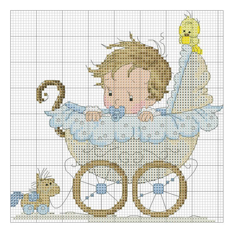 .Make a nice baby sampler with date, weight etc underneath