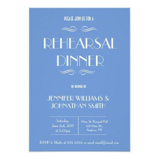 328 best rehearsal dinner wedding invitations images on pinterest blue white rehearsal dinner invitations stopboris Images