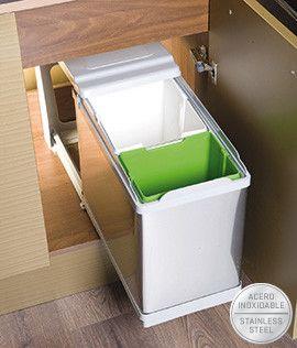 Cubo de reciclaje 17+1L