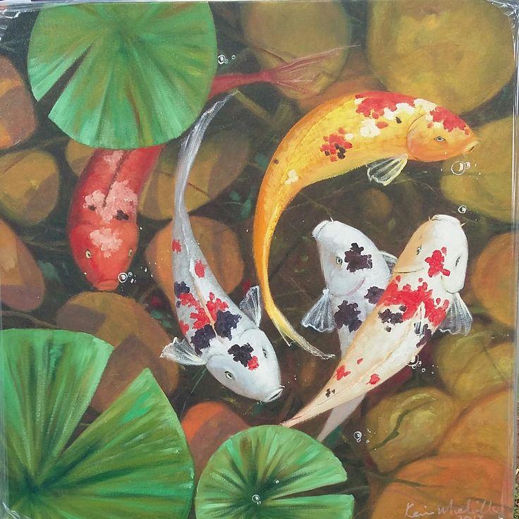 61 cm x 61 cm x 35 mm Sealed Oils on Stretched Canvas..R 850...Benoni