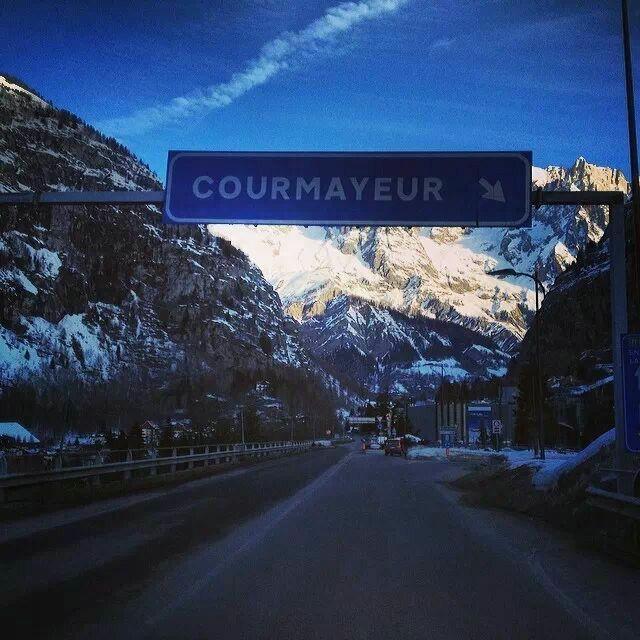 Arrivati a Courmayeur