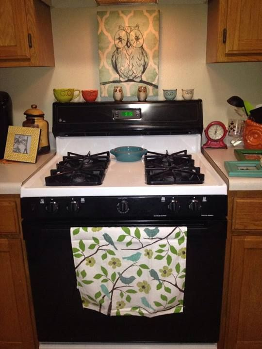 Part Of My New Owl Themed Kitchen. I Love My New Owl Friends!