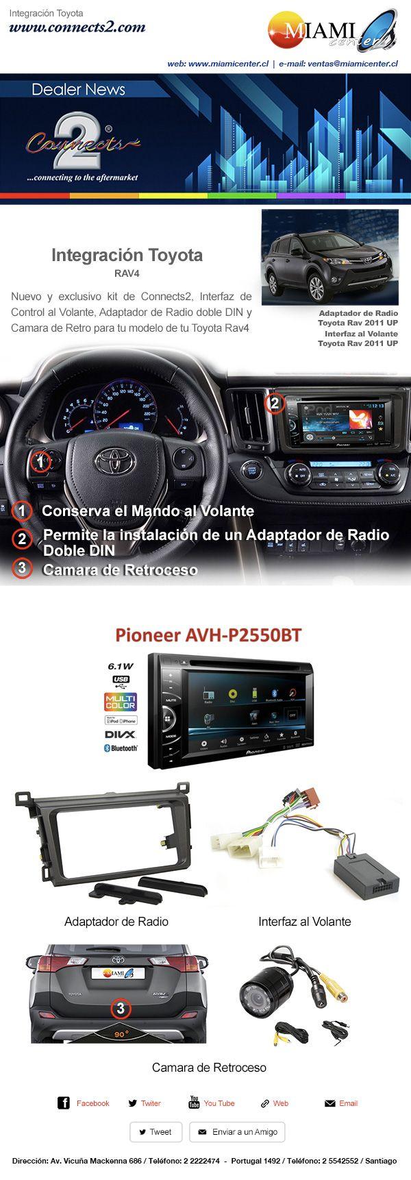 INTEGRACIÓN COMPLETA TOYOTA RAV 4  http://www.miamicenter.cl/toyota/radio-toyota-rav4.html  https://www.facebook.com/miamicenterchile