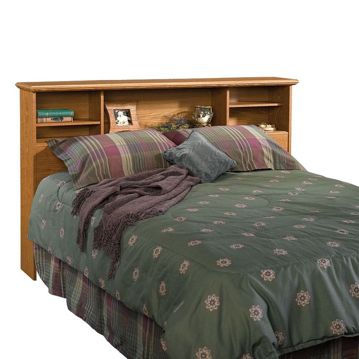 Sauder Full/Queen Bookcase Headboard - Oak, Brown