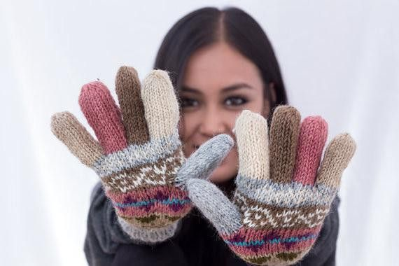 These Woolen Mittens are knitted by the Nepalese Women using the sheep wool from New Zealand.   We use Eco-friendly Swiss Technology CLARIANT Color Dying process.   This product is mostly in...