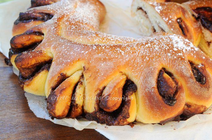 Ventaglio alla nutella pan brioche soffice
