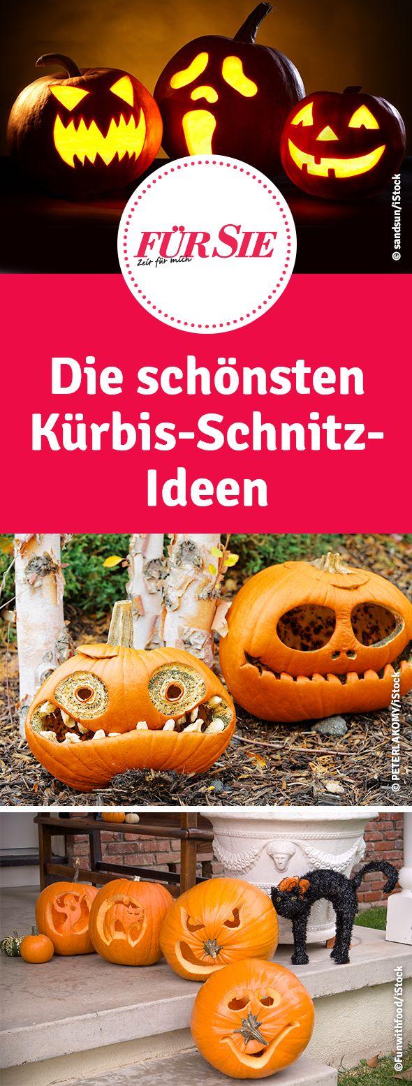 Die schönsten Kürbis-Schnitz-Ideen