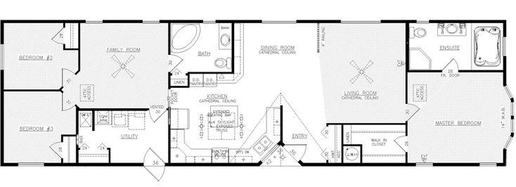 The Prestige.... Absolutely stunning floor plan! #Modularhome #Mobilehome #Floorplan