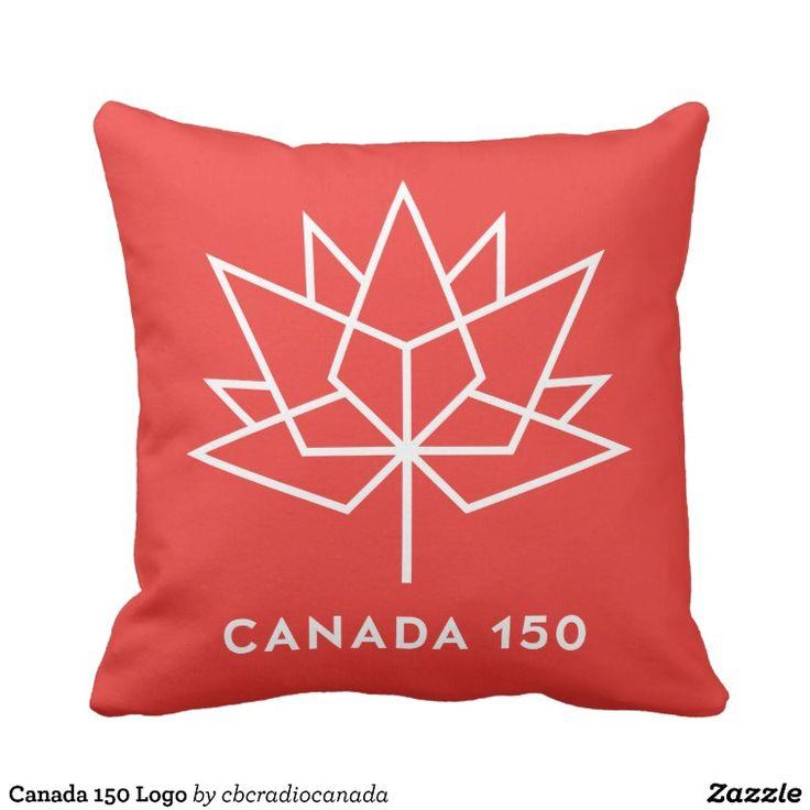 Canada 150 Logo Throw Pillow