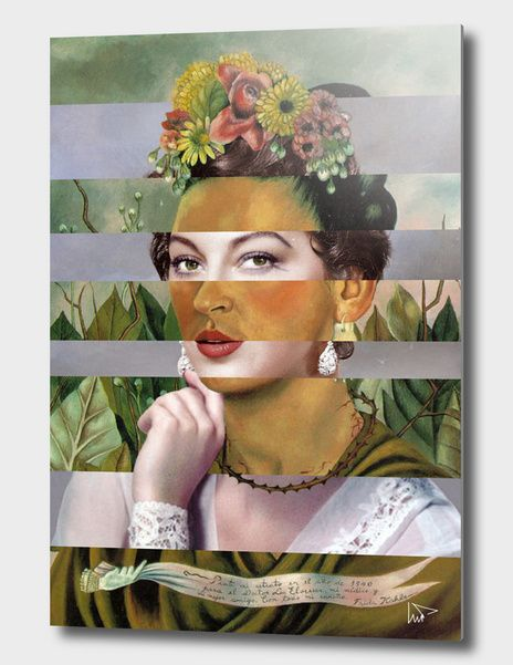 Discover «Frida's Self Portrait with Hand Earrings & Ava Gardner», Exclusive Edition Aluminum Print by Luigi Tarini - From $75 - Curioos