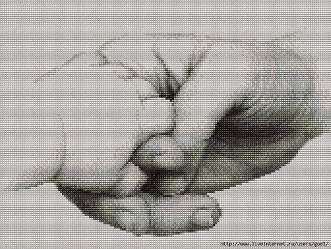 mano con mano neonato   Hobby lavori femminili - ricamo - uncinetto - maglia