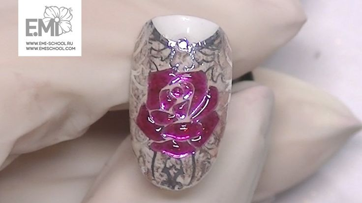 Мастер-класс стеклянные цветы на ногтях. Gemty gel и слайдеры Naildress