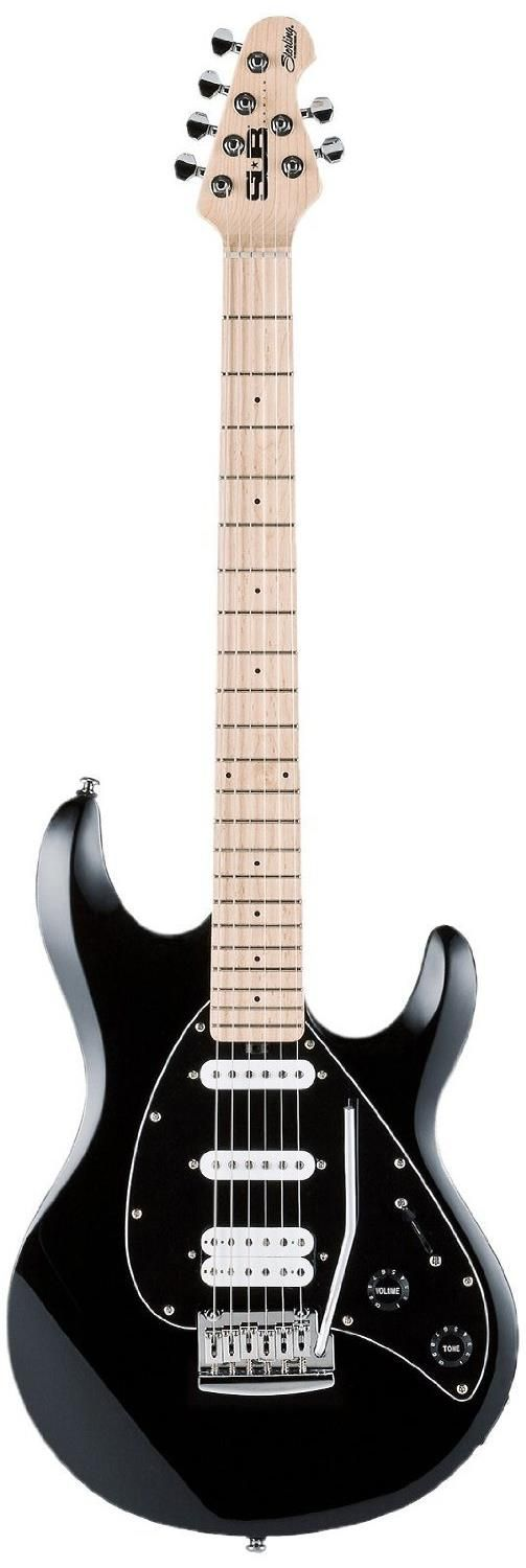 Sterling by Music Man S.U.B. Silo3 - Black. This guitar has a humbucking pickup in the bridge position along with 2 single coil pickups. The street price is $199.99. For a detailed guide to cheap electric guitars see https://www.gearank.com/gear/sterling-music-man-sub-silo3-black
