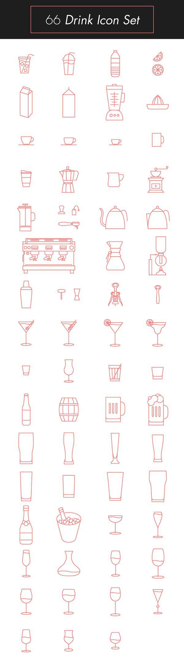 Drink Icon Set on Behance