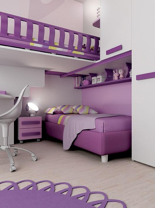 17 migliori idee su armadio scrivania su pinterest - Camera da letto bianca e viola ...