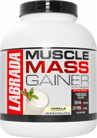 Labrada Muscle Mass Gainer Vanilla 6 Lbs. LAB2860055 Vanilla - High-Calorie Whey Protein to Support Weight, Muscle and Strength Gains.*