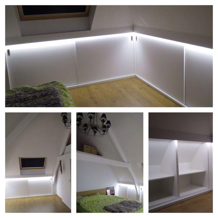 25 beste idee n over kleine slaapkamer opslag op pinterest slaapkamer opslag kleine - Idee outs kamer bad onder het dak ...