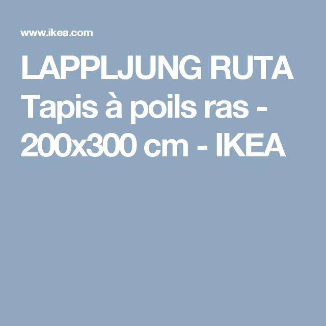 LAPPLJUNG RUTA Tapis à poils ras - 200x300 cm - IKEA