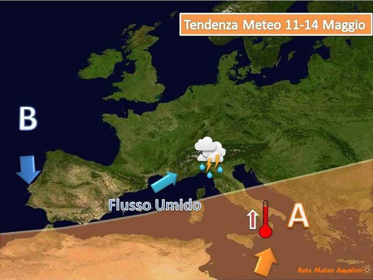 Fiammata Calda al Sud da Mercoledì PRONTI PER LA ???? FIAMMATA ???? ??? La situazione meteo per la nuova settimana vedrà: lunedì e martedì ancora instabili con possibilità di rovesci anche a carattere di temporale, questo poichè l'alta pres #meteo #settimana #italia #caldo #africa