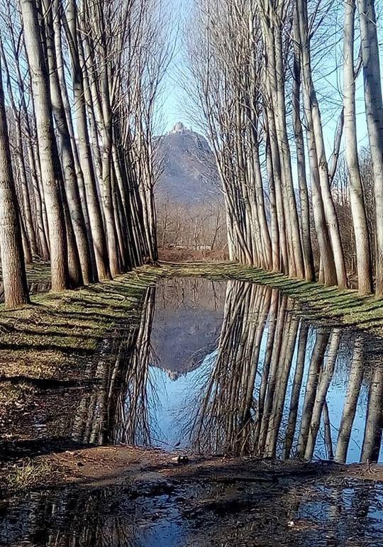 Sacra di San Michele allo specchio #myValsusa 11.03.17 #fotodelgiorno di Gloria Tardivo