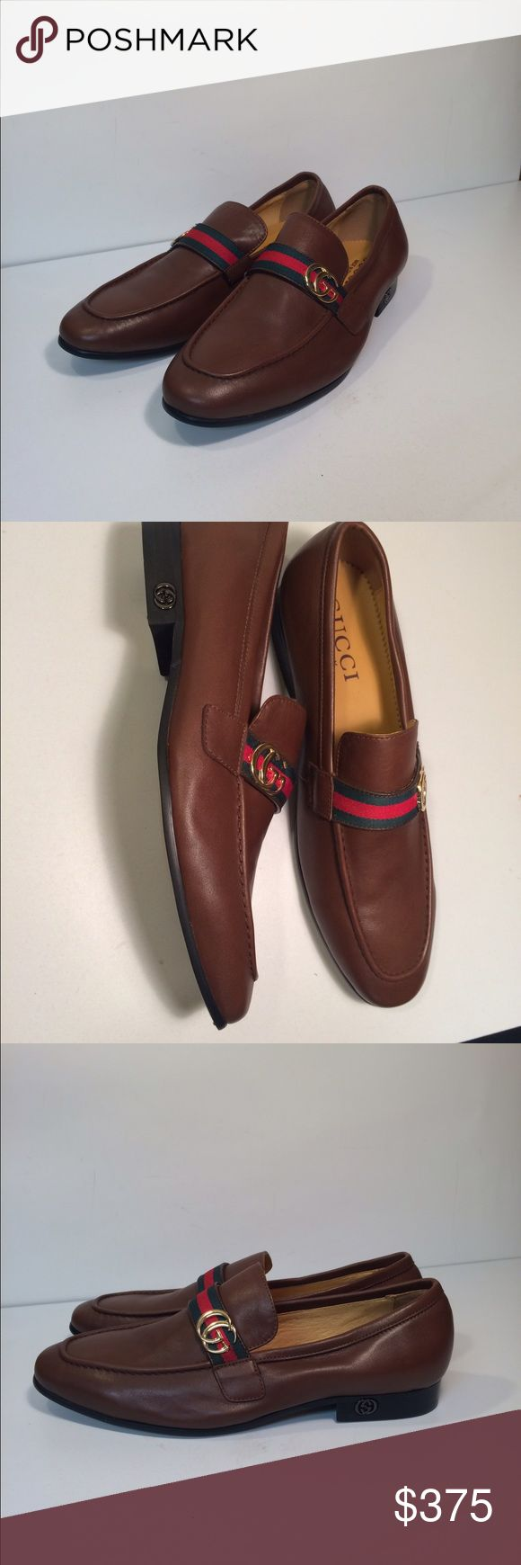 Gucci Men's Slip On Loafers Dress Shoes Gucci Men's Slip On Loafers Dress Shoes ... Size: EU 44 / US: 10.5 ... Color: Brown ... Material: Leather ... Condition: New Without Box / Tags. Gucci Shoes Loafers & Slip-Ons