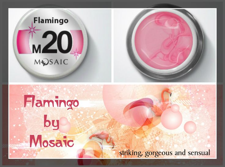 Flamingo from #mosaic! Striking, gorgeous and sensual!This is one of the latest colour added to the METALLIC COLLECTION!  Highly pigmented colour gel paint. Perfect for any type of design. Does not spread or run. Can be used for competition designs and for everyday salon designs. Cures under 36W UV lamp in just 1 minute. 5 ml. £10.50  www.susansnailstore.co.uk