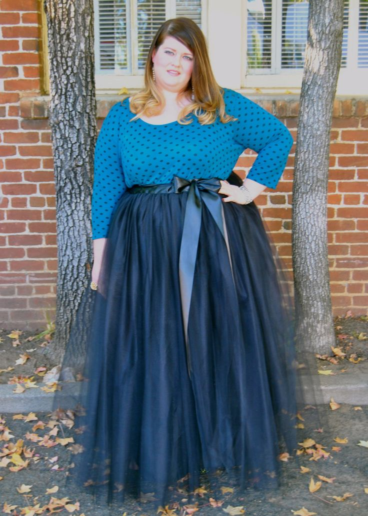 Plus Size Floor Length Adult Tulle Tutu Skirt by darkponydesigns