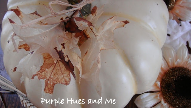 bleached leaves from Under The Table and Dreaming: Creative Reader Projects No. 179: Fall Crafts, Decor, and Recipes