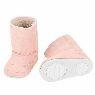NewinfantFleece Bootie Solid Anti Skid Soft Short Snow Boot Pink | pinknee.com